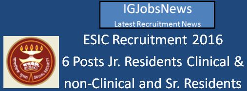 ESIC Recruitment Walk-in Interview March 2016