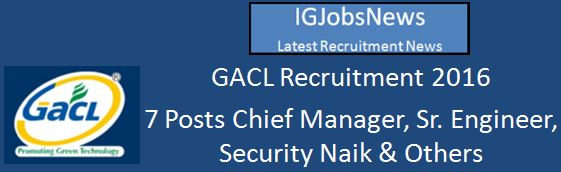 GACL_Recruitment Apply Online March 2016