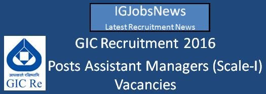 GIC Recruitment-of-Scale-I-Officers March 2016