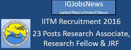 IITM Recruitment March 2016
