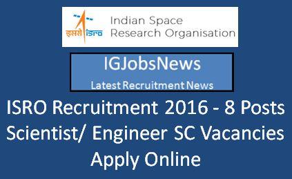 ISRO Recruitment March 2016