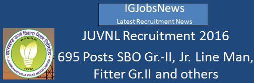 JUVNL Recruitment Notice_2016