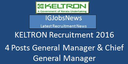 KELTRON Recruitment 2016