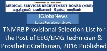 MRB_Prosthetic_Craftsman_Provisional_Selection_List_2016