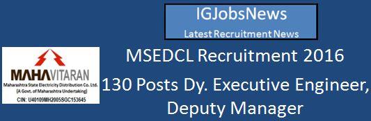 MSEDCL Recruitment 2016 Advt.3-2016