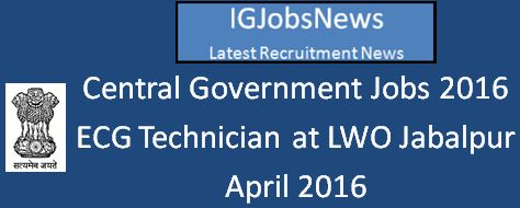MoL Central Government Jobs April 2016