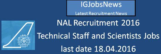 NAL Recruitment March 2016