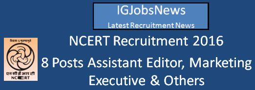 NCERT Recruitment April 2016