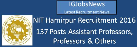 NITH Recruitment SRD for PWD and others