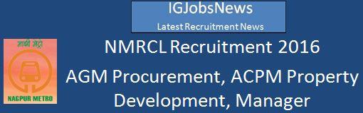 NMRCL Recruitment 2016 3 Vacancies
