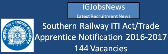 Southern Railways Ex-ITI Apprentice 2016