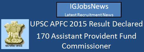 UPSC_RESULT_APFC_2015_English