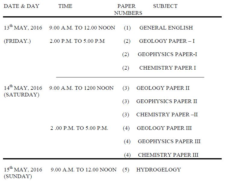 UPSC_Timetable_Geol_2016_Engl_May