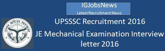 UPSSSC JE Mechanical Examination 2016