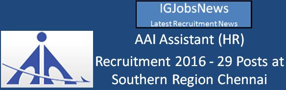 AAI Assistant (HR) Advertisement Revised April 2016
