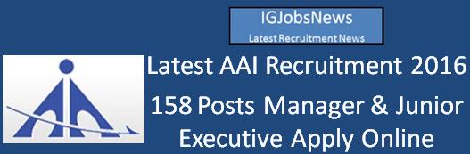 AAI Latest Recruitment Notification April 2016
