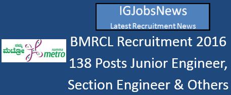 BMRC Recruitment Notification April 2016