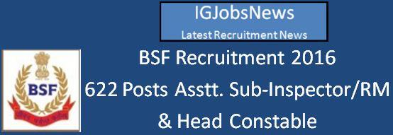 BSF Recruitment April 2016 Apply Online