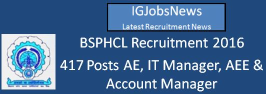BSPHCL Recruitment April 2016