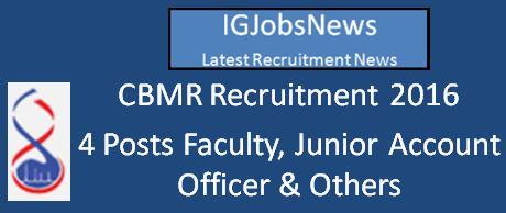 CBMR Recruitment_Faculty April 2016