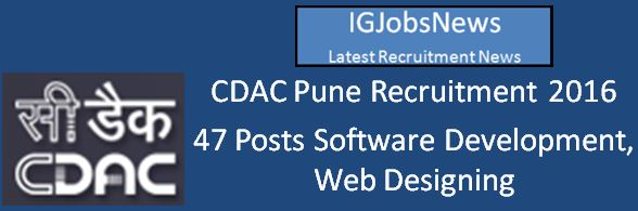 CDAC Recruitment April 2016