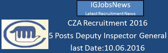 CZA Recruitment April 2016
