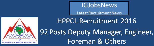 HPPCL Recruitment April 2016