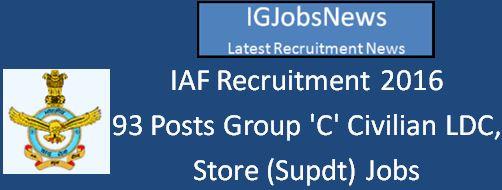 IAF Recruitment April 2016_93 Vacancies