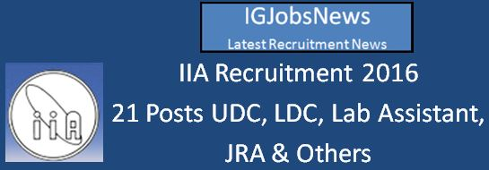 IIA Recruitment April 2016