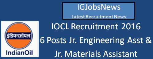 IOCL Recruitment Notification April 2016