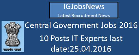 IT Expert jobs April 2016