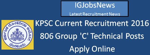 KPSC Recruitment April 2016