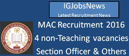 MAC Recruitment April 2016