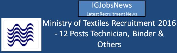 Ministry of Textile Advertisement April 2016