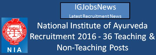 NIA Recruitment April 2016