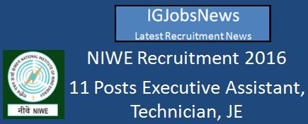 NIWE Recruitment_of_Scientific,Technical,Administrative_Posts