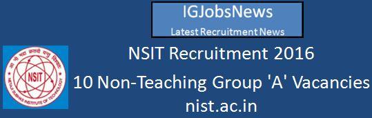NSIT Group A posts April 2016