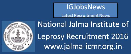 National Jalma Institute Recruitment Notification May 2016