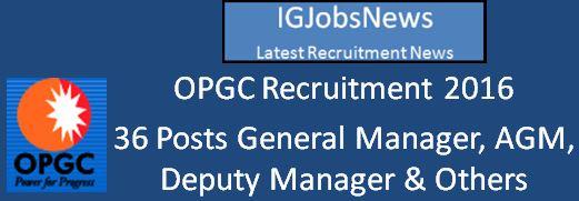 OPGC Recruitment April 2016 Apply Online