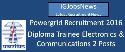 PGCIL Recruitment April 2016 Apply Online