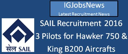 SAIL Recruitment April 2016