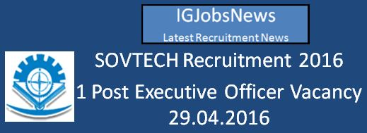 SOVTEC Recruitment April 2016