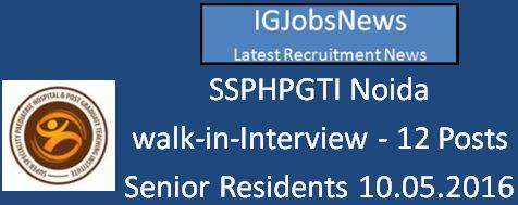 SSPHPGTI Recruitment April 2016 Notification