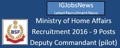 BSF Recruitment Notification June 2016