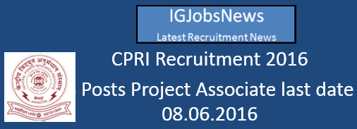 CPRI Recruitment Notification_Add_Project_associates_DSD