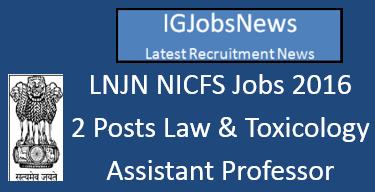 NICFS Recruitment Notification June 2016