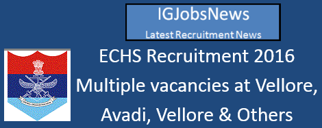 ECHS Recruitment 2016 June July