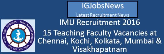 IMU Recruitment 2016