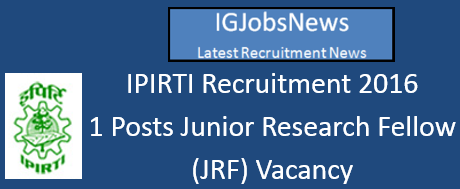 IPIRTI Recruitment 2016