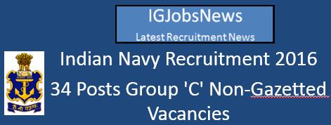 Indian Navy Recruitment 2016